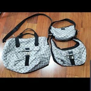 Bundle of 3 matching purses and duffel bag!